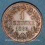 Coins Bade. Frédéric I, grand duc (1856-1907). 1 kreuzer 1865