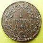Coins Bade. Frédéric I, grand duc (1856-1907). 1 kreuzer 1866