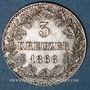Coins Bade. Frédéric I, grand duc (1856-1907). 3 kreuzer 1866