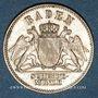 Coins Bade. Frédéric I, grand duc (1856-1907). 3 kreuzer 1868