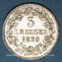 Coins Bade. Frédéric I, grand duc (1856-1907). 3 kreuzer 1870