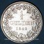 Coins Bavière. Louis I (1825-48). 1/2 gulden 1842