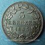 Coins Bavière. Maximilien II Joseph (1848-1864). 3 kreuzer 1853