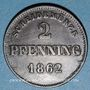 Coins Bavière. Maximilien II Joseph (1848-64). 2 pfennig 1862