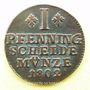 Coins Brunswick-Wolfenbüttel. Charles Guillaume Ferdinand (1780-1806). 1 pfennig 1802