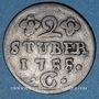 Coins Clèves. Frédéric II de Brandebourg (1740-1786). 2 stuber 1755 C