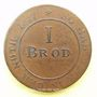 Coins Elberfeld. Monnayage de nécessite. Brotmarke 1816