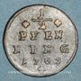 Coins Evêché de Wurzbourg. Adam Frédéric de Seinsheim (1755-1779). 1/2 pfennig 1763