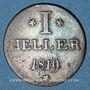 Coins Francfort. Ville. 1 heller 1819