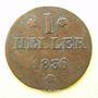 Coins Francfort. Ville. 1 heller 1836ST
