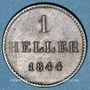Coins Francfort. Ville. 1 heller 1844