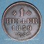 Coins Francfort. Ville. 1 heller 1859