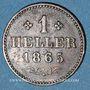 Coins Francfort. Ville. 1 heller 1865