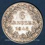 Coins Francfort. Ville. 6 kreuzer 1845