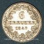 Coins Francfort. Ville. 6 kreuzer 1849