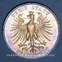 Coins Francfort. Ville. Taler 1859. 100e anniversaire de la naissance de Schiller
