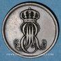 Coins Hanovre. Ernest Auguste (1837-1851). 2 pfennig 1845 B