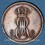 Coins Hanovre. Ernest Auguste (1837-1851). 2 pfennig 1847 B