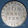 Coins Hesse-Darmstadt. Louis II (1830-1848). 6 kreuzer 1833