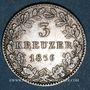 Coins Hesse-Darmstadt. Louis III (1848-1877). 3 kreuzer 1856