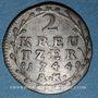 Coins Hesse-Darmstadt. Louis VIII (1739-1768). 2 kreuzer 1744 AK