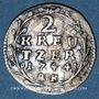 Coins Hesse-Darmstadt. Louis VIII (1739-68). 2 kreuzer 1744 AK
