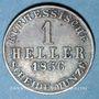 Coins Hesse. Frédéric Guillaume (1847-1866). 1 heller 1856