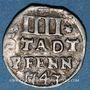 Coins Hildesheim. Ville. 4 pfennig 1743
