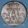 Coins Münster. Evêché. Clément Auguste de Bavière (1719-1761). 3 pfennig 1754