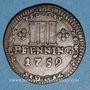 Coins Munster. Monnayage de la Cathédrale. 3 pfennig 1759
