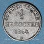 Coins Oldenbourg. Nicolas Frédéric Pierre (1853-1900). 1/2 groschen 1864 B