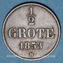 Coins Oldenbourg. Nicolas Frédéric Pierre (1853-1900). 1/2 grote 1853 B