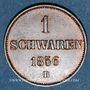 Coins Oldenbourg. Nicolas Frédéric Pierre (1853-1900). 1 schwaren 1856 B