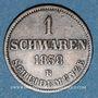 Coins Oldenbourg. Nicolas Frédéric Pierre (1853-1900). 1 schwaren 1858 B
