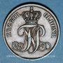 Coins Oldenbourg. Nicolas Frédéric Pierre (1853-1900). 3 schwaren 1858 B