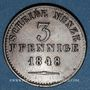 Coins Oldenbourg. Paul Frédéric Auguste (1829-1853). 3 pfennig 1848