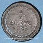 Coins Palatinat-Birkenfeld-Deux-Ponts. Charles II (1775-1795). 1/2 kreuzer 1788
