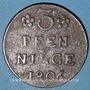 Coins Poméranie. Occupation suédoise. Gustave Adolphe (1792-1809). 3 pfennig 1806