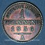 Coins Prusse. Frédéric Guillaume IV (1840-1861). 1 pfennig 1856 A