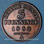 Coins Prusse. Frédéric Guillaume IV (1840-1861). 3 pfennig 1852 A