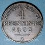 Coins Prusse. Frédéric Guillaume IV (1840-1861). 4 pfennig 1855 A