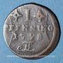 Coins Rostock. Ville. 1 pfennig 1798 FL
