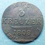 Coins Saxe-Cobourg-Saalfeld. Ernest I (1806-1826). 3 kreuzer 1808