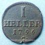 Coins Saxe. Frédéric Auguste III (1763-1806). 1 heller 1796 C