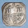 Coins Saxe-Hildbourghausen. Joseph, prince régent (1780-1787). 1 heller 1784