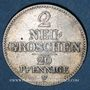 Coins Saxe. Jean I (1854-1873). 2 neugroschen 1855 F