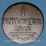 Coins Saxe-Meiningen. Bernard II Eric Freund (1803-1866). 1 kreuzer 1818