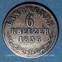 Coins Saxe-Meiningen. Bernard II Eric Freund (1803-1866). 6 kreuzer 1836 K