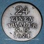 Coins Saxe-Weimar-Eisenach. Charles Auguste (1758-1828). 1/24 taler 1824