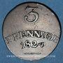 Coins Saxe-Weimar-Eisenach. Charles Auguste (1758-1828). 3 pfennig 1824